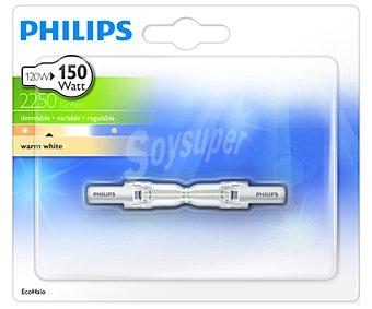 Philips Bombilla ecohalógena lineal 120 Watios, con casquillo R7S y luz cálida 1 unidad