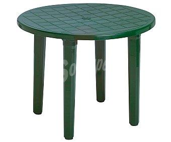 PLASMIR Mesa redonda, de resina verde y de 60X72 centímetros 1 unidad