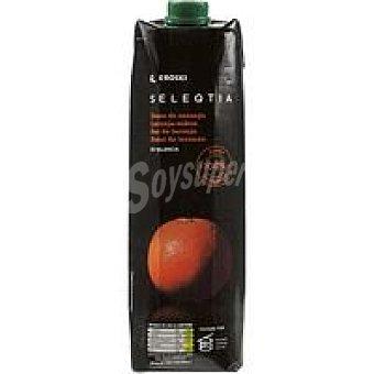 Eroski Seleqtia Zumo de naranja 100% exprimida Eroski Brik 1 litro