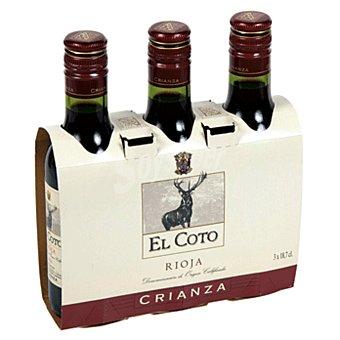 EL COTO vino tinto crianza D.O. Rioja pack 3 botellas 18,7 cl