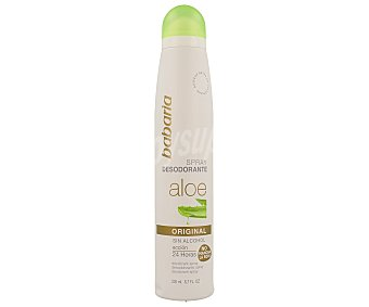 Babaria Desodorante Original con Aloe Vera sin alcohol Spray 200 ml