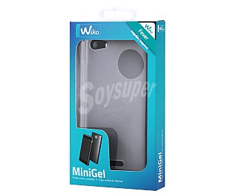 MADE FOR WIKO Funda trasera muvit Minigel, transparente, compatible con smartphone Wiko Fever