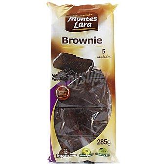 MONTES LARA INPANASA Brownie de chocolate 5 unidades paquete 285 g 5 unidades