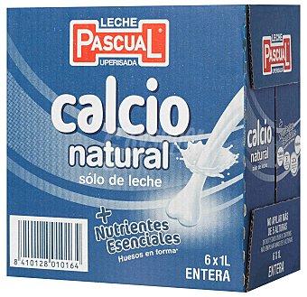 Pascual Leche Calcio Entera - Paquete de - Total: 6000 ml