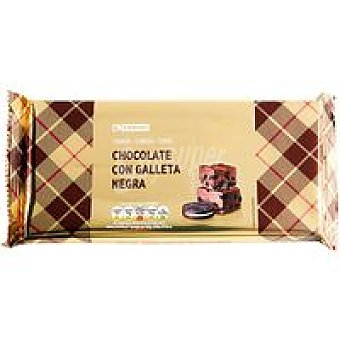 Eroski Turrón de chocolate-galleta negra Tableta 100 g
