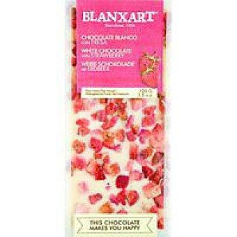 BLANXART Chocolate blanco con fresas 100 g