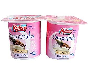 Kalise Yogur Desnatado Coco-Piña 4 unidades de 125 gramos