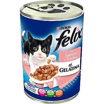 Felix Purina Albóndigas de salmón y trucha para gato Lata 400 g
