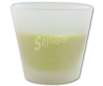 AUCHAN Vela perfumada en vaso de 8 centímetros con olor a higo 1 Unidad