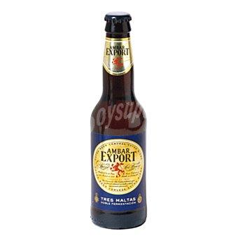 AMBAR EXPORT Cerveza extra (elaborada CON 3 maltas) Botellin 330 cc