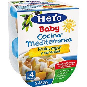 Hero Baby Tarrito fruta yogur y cereales Cocina Mediterránea Estuche 260 g