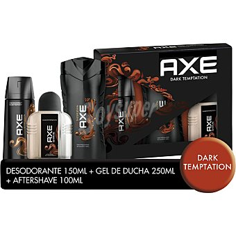 Axe gel de baño Dark Temptation + after shave + desodorante frasco 250 ml