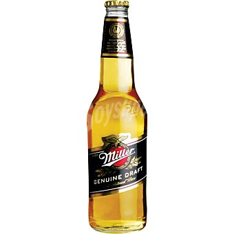 MILLER Lager Cerveza rubia estadounidense botella 33 cl Botella 33 cl