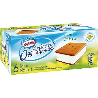 Nestlé Minisándwich de helado de nata sin azúcares añadidos  6 unidades
