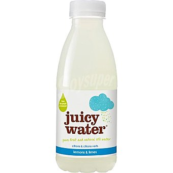 JUICY WATER Zumo de lima y limón con agua natural Botella 420 ml