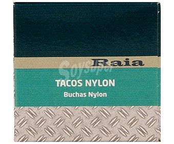 Raia Caja de 60 tacos de nylon de color gris, de 8x40 milímetros RAIA 60u