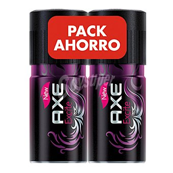 Axe Duplo desodorante excite Pack de 2x150 ml
