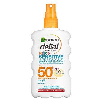 Delial Garnier Sensitive Advanced protector solar niños SPF-50+ resistente al agua Spray 200 ml