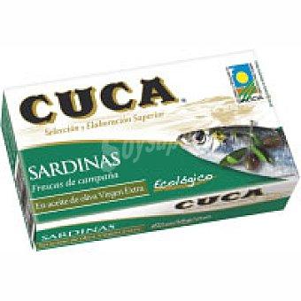 CUCA Sardina en aceite de oliva ecológico lata 120 g