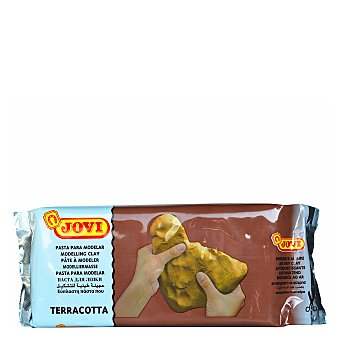 Jovi Pastilla de 1000 gramos de pasta para modelar de color terracota jovi 1000g