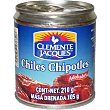 Chiles chipotles adobados Lata 105 g neto escurrido Clemente Jacques