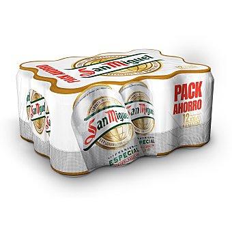 San Miguel Cerveza rubia nacional pack 12 latas 33 cl Pack 12 latas 33 cl