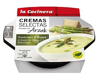 LA COCINERA CREMAS SELECTAS De esparragos trigueros al toque de queso manchego  estuche 230 g