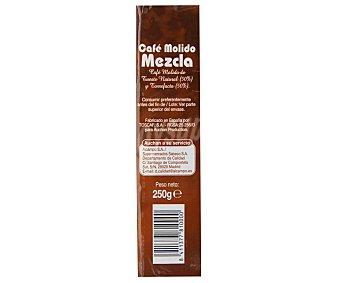 Auchan Café Molido Mezcla de Tueste Natural 50% y Torrefacto 50% 250g