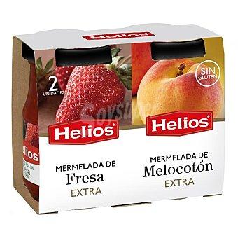 Helios Mermelada de fresa y de melocoton 2 frascos 340 gr