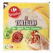 Tortillas de trigo Carrefour sin aceite de palma 8 ud Sensation