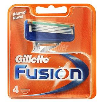 Gillette Recambio fusion 4 unidades