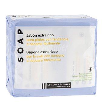 Les Cosmétiques Jabón pastilla para manos piel seca Pack 4x100 g