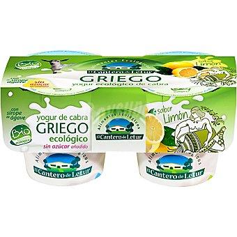 El Cantero de Letur Yogur de cabra griego ecologico sabor limón Pack 2 unidades 125 g