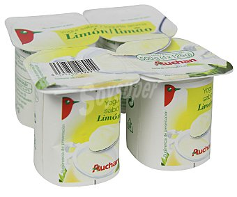 Auchan Yogur con sabor a limón Pack de 4 unidades de 125 gramos