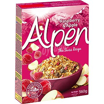 Alpen Muesli con frambuesas y manzana Estuche 560 g