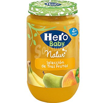 Hero Baby tarrito selección de tres frutas Natur envase 235 g