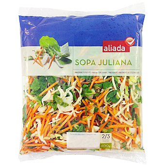 Aliada Sopa juliana Bolsa 400 g