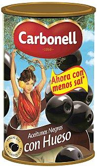 CARBONELL PERLAS DEL GUADALQUIVIR Aceitunas negras con hueso lata 185 g Lata 185 g