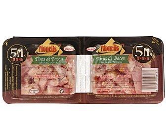 MONELLS Tiras de bacon ahumado 2 Unidades de 75 Gramos