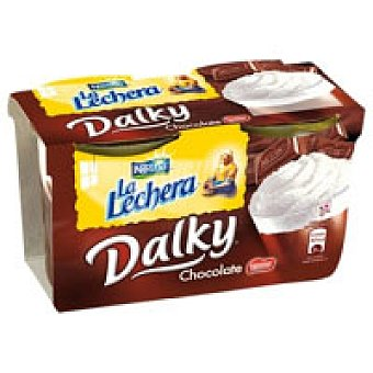 La Lechera Nestlé Dalky de chocolate-nata Pack 2x100 g