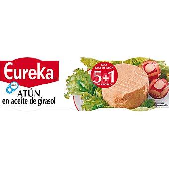 EUREKA Atún en aceite vegetal  5 latas de 52 g neto escurrido