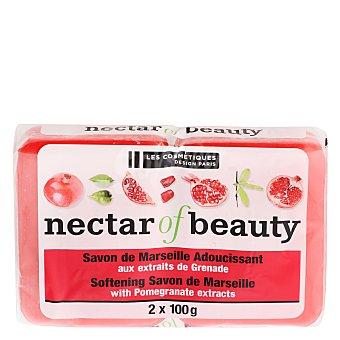 Les Cosmétiques Jabón de manos en pastilla Granada Néctar of Beauty Pack de 2 unidades de 100 g