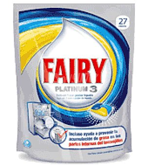 Fairy Lavavajillas maquina platinum 3 limón pastilla 27 ud