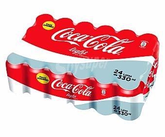 Coca-Cola Light Refresco de cola light 24 latas de 33 cl