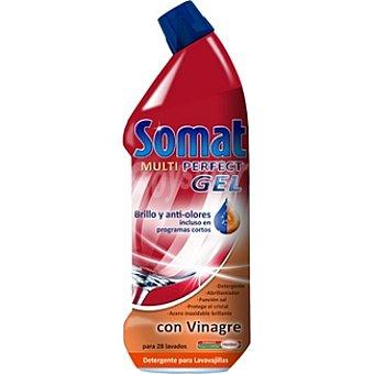Somat Detergente lavavajillas multi perfect gel con vinagre Botella 28 dosis