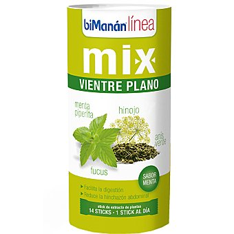 Bimanan  LINEA Mix Vientre Plano Sabor menta envase 42 g Envase 42 g