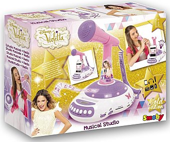 DISNEY Radio, reproductor musical, karaoke con micrófono, Violetta 1 Unidad