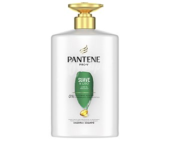 Pantene Pro-v Champú con acción suavizante y anti encrespamiento para cabellos apagados o encrespados suave&liso 1 l