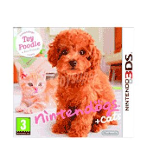 Nintendo Juego 3DS dogs+gatos caniches nintendo
