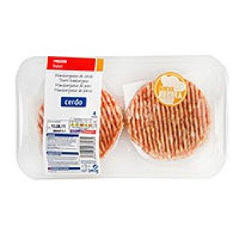 Eroski Basic Hamburguesa de cerdo 4 unid